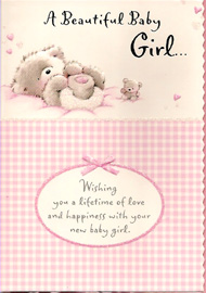 Birth of baby girl open card m4hsunfo