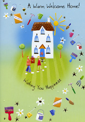 Welcome home open card birthday card 694 m4hsunfo